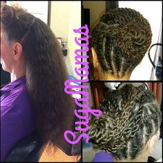 Long hair protective hairstyle