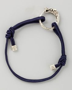 Naga Cord Bracelet, Dark Blue by John Hardy at Neiman Marcus.