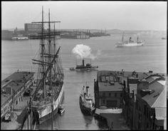 Old T-Wharf, Boston 1920ties