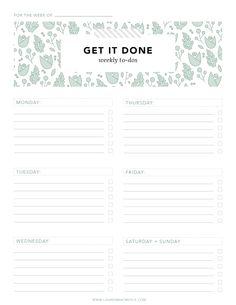 Organization Sheets - Print Design