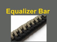 """▶ How to make an Equalizer Bar Paracord Bracelet (5/8"""" Buckle) - YouTube"""