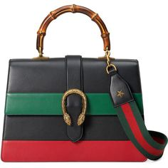 Gucci Dionysus Striped Bamboo Top-Handle Bag ($3,500) ❤ liked on Polyvore featuring bags, handbags, gucci, borse, purses, colorful handbags, hand bags, man bag, structured handbags and multi colored handbags
