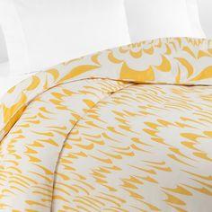 DIANE von FURSTENBERG Marbled Wings Duvet, Mimosa | Bloomingdale's