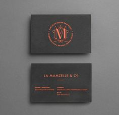 Mamzelle & Co. business cards - 2010 on Behance