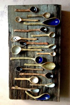 Beautiful ceramic interior wooden spoons by lifeware on Etsy