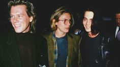 Kevin Bacon, River Phoenix, and Johnny Depp