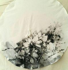 천그림 : 네이버 블로그 Fabric Painting, Fabric Art, Handicraft, Blouse Designs, Tapestry, Tattoos, Flowers, Blog, Crafts