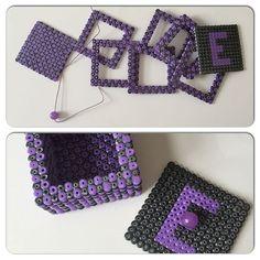 Box hama beads by galleripetz 3d Perler Bead, Pearler Beads, Xmas Crafts, Diy Crafts, Kandi Cuff, Pixel Beads, Beaded Boxes, Perler Patterns, Bead Art