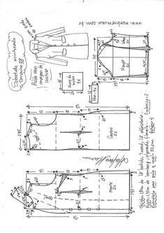 Sobretudo com capuz simples – DIY – molde, corte e costura – Marlene Mukai Coat Pattern Sewing, Blazer Pattern, Collar Pattern, Pattern Drafting, Jacket Pattern, Girl Dress Patterns, Coat Patterns, Clothing Patterns, Skirt Patterns