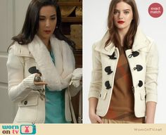 Mandy's white toggle jacket on Last Man Standing. Outfit Details: http://wornontv.net/22250 #LastManStanding