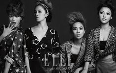 "miss A Is Featured in a Chic Pictorial For ""Elle Korea"" Magazine"