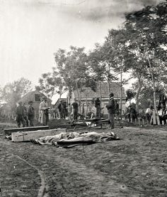 Burial of Union soldiers in Fredericksburg, VA.