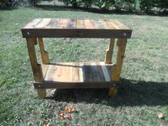 Recycled Upcycled Reclaimed Pallet Wood Table Entry Hall Foyer Plant Table Outdoor Bar Kitchen Island Handmade Primitive Rugged. $499.00, via Etsy. EASy to make for WAY CHEAPER