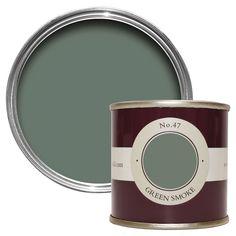 Farrow & Ball Green Smoke No.47 Estate Emulsion 100ml Tester Pot | Departments | DIY at B&Q