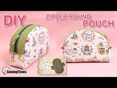 I made ZIPPER ROUND POUCH BAG today. Share this video with a lot of people who need it. Bag Pattern Free, Pouch Pattern, Sewing Hacks, Sewing Tutorials, Sewing Projects, Bag Sewing, Free Sewing, Diy Sac, Makeup Pouch