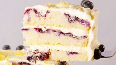 Lemon Blueberry Cake  - Delish.com