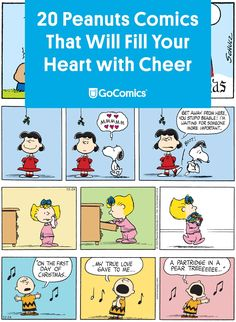 A collection of Christmas-themed Peanuts comics by Charles M. Christmas Comics, Peanuts Christmas, Christmas Snowman, Christmas Themes, Your Heart, Charlie Brown, True Love, Cheer, Fill