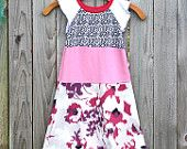 CHILDRENS CLOTHING Summer girls dress Girls Clothes Upcycled dress for girl 7-8yr Children Spring Clothes Kids wear. $46.00, via Etsy.