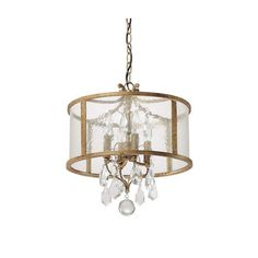 Blakely Antique Gold Four Light Pendant With Clear Crystals Capital Lighting Fixture Compa