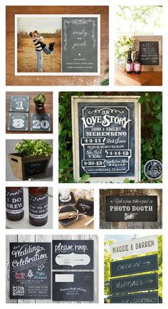 chalk board wedding signs ideas | Rustic Chalkboard Wedding Ideas | Woodsy Weddings