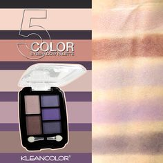 Create a customized #smoky eye with #kleancolor 5 Color Eyeshadow (ES2170). 2176 Cancun palette covers 5 daring, captivating #shades that can take your look from sophisticated to #bold. The case wil liven up any bags. Perfect for on-the-go.