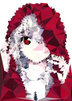 Here is an image that I got from google and I changed it in Dmesh to give it that spiky effect to the image  #art #spiky #anime #manga #DMesh #computer #image #google #colours #red #white