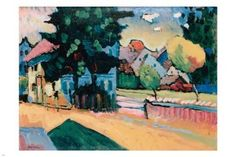 Vasily Kandinsky View of Murnau FINE ART POSTER 24X36 VIBRANT abstract