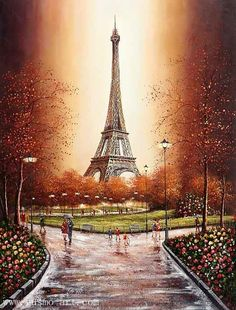 Eiffel Tower Oil Paintings | Eiffel Tower oil painting manufacturers,Eiffel Tower oil painting ...