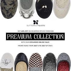Check out The Butterfly Twists: PREMIUM COLLECTION SALE!  Get 40% OFF on selected styles from their Premium Collection with their latest EXCLUSIVE ONLINE SALE!  Check it out at http://butterfly-twists.ph/ . Promo runs from July 4 - 17, 2016 ONLY!  http://mypromo.com.ph/