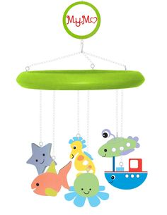Mymo baby mobile: green sample