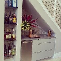 custom bar understairs stairway interiordesign decor decorporn wetbar 26 Incredible Under The Stairs Utilization Ideas Wine bars