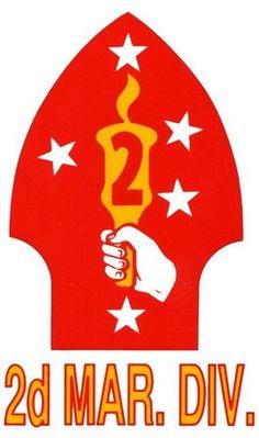 "corspman decals | 2nd Marine Division Decal 3.25"" x 5.25"""