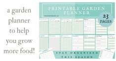 Garden planning made easier! This fantastic garden planner will help you stay organized for the season. Create a planting schedule with this printable garden planner. Vegetable garden planning is so important for a successful garden season. Write down your garden plants and take seed inventory, keep track of harvests