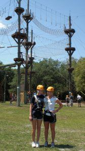 High Ropes Course! These and zip lines are so fun!