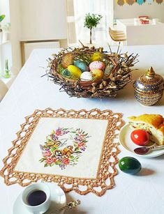 embroidery Embroidery, Table Decorations, Furniture, Home Decor, Needlepoint, Decoration Home, Room Decor, Home Furnishings, Home Interior Design