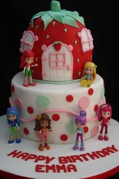 Strawberry Shortcake Birthday Cakes Birthday Cake Girls, 5th Birthday, Birthday Ideas, Strawberry Shortcake Birthday Cake, Strawberry Shortcake Characters, Strawberry Cakes, Cupcake Cakes, Cupcakes, Party Cakes