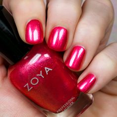 The new Zoya Wanderlust Collection is everything your summer dreams are made of. With 8 cremes, 4 shimmers, and 3 lipsticks there is something for everyone! Hot Nails, Swag Nails, Hair And Nails, Nancy Nails, Acrylic Dip Nails, Nails News, Maroon Nails, Pink Nail Polish, Strong Nails
