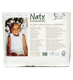 Nature Babycare Naty Nature Babycare Pull On Pants Size 5 Carry 28 Advantage card points. Naty Nature Babycare Pull On Pants Size 5 Carry Pack - 1 x 20 Pants. Naty Nature Babycare Pull On Pants are made from totally chlorine free material. With natural corn based  http://www.MightGet.com/february-2017-1/nature-babycare-naty-nature-babycare-pull-on-pants-size-5-carry.asp