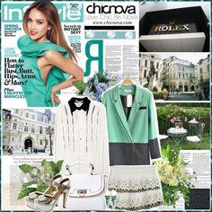 """Jessica Alba 1.Chicnova 01.04.13"" by anabella507 ❤ liked on Polyvore"