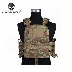 EMERSON Airsoft Combat Style Vest With Plate Carrier Shooting Hunting Tactical Vest Clothing Camouflage Military Gear Military Tactical Vest, Military Vest, Tactical Belt, Military Girl, Hunting Suit, Plate Carrier Vest, Army Training, Airsoft Helmet, Duty Gear