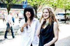 Loreen and Emmelie de Forest, both winners of Eurovision