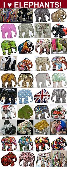 Elephant Parade: Handbeschilderde objecten op schaal, vanaf € 10 - € 259 www.baxkunst.nl #baxkunst