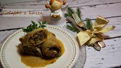 Kulinarne przygody Gatity: Gołąbki z kaszą jęczmienną i grzybami