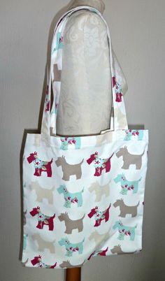 Handmade Shopping Bag scottie dog scotland by KelwayCraftsYorkshir, £9.99