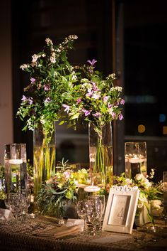Romantic Glass Vase Centerpiece