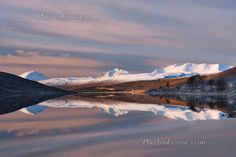 Torridon mountains reflection in Winter. North West Scotland.