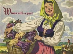 antique 1943 italian wine advertisement by FrenchFrouFrou on Etsy, $12.95