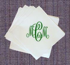 Linen Like Personalized Napkins - Set of 25 $11.75