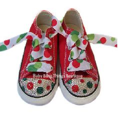pretty nice ad42b 58dce Christmas Dot Bling Converse