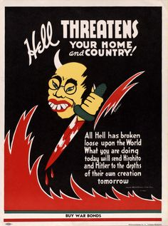 """""""Hell Threatens Your Home and Country!"""" US Artist: Columbus c. 1942"""